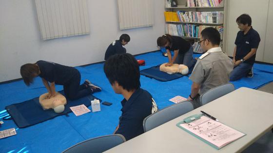 救命処置(CPR+AED)訓練を行いました