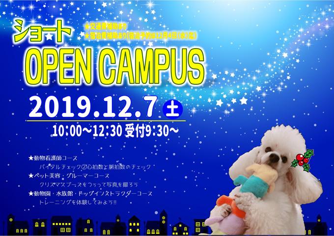 12月オープンキャンパスのご案内
