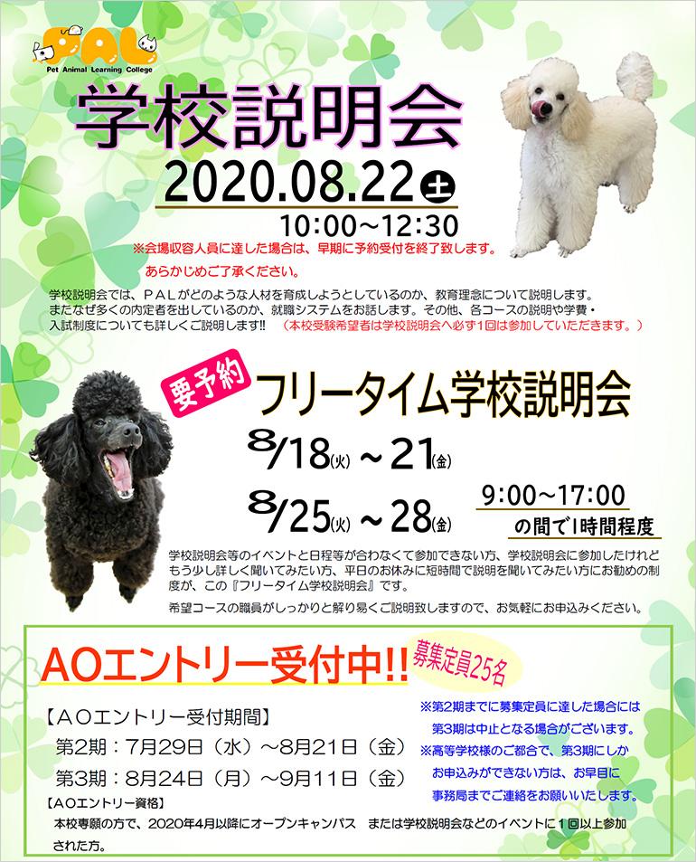 8/22(土)学校説明会開催!
